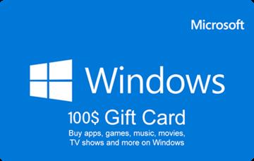 تصویر از ویندوز کارت 100 دلاری