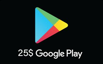تصویر از گوگل پلی 25 دلاری